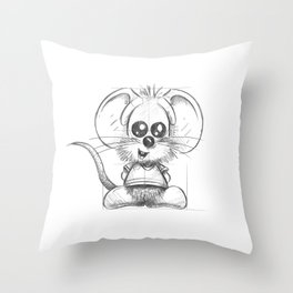 Rikiki sketch Throw Pillow