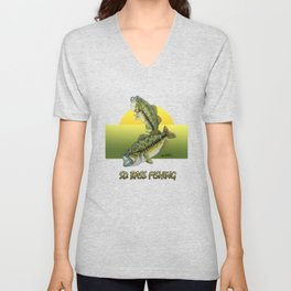 Two Largemouth Bass - Above And Below Unisex V-Neck