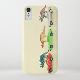 Dinosaurs Ride Cars iPhone Case