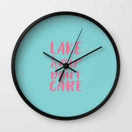 Lake hair don't care Wall Clock