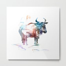 Wildebeest 2 / Abstract animal portrait. Metal Print