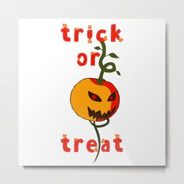 Happy Halloween! Boo pumpkin trick or treat scary design Metal Print