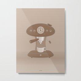 Coffee Maker Series - Automatic Espresso Machine Metal Print