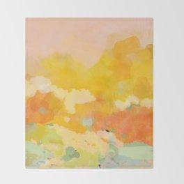 abstract spring sun Throw Blanket