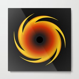 Black Hole Space Graphic Metal Print