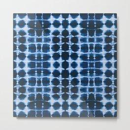 Blue Shibori Metal Print