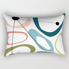 Mid Century Modern Pebbles Rectangular Pillow