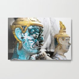 Buddhist Temple Demon Metal Print