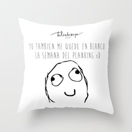 Maldito planking Throw Pillow