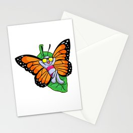 Butterfly at Sunbathing with Sunglasses Stationery Cards