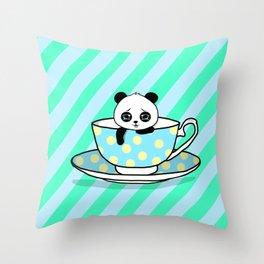 A Tired Panda Throw Pillow