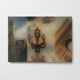 Paris Triptych 3 Metal Print
