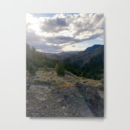 Light through clouds - A mountains scene Metal Print
