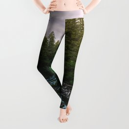 PNW River Run II - Pacific Northwest Nature Photography Leggings