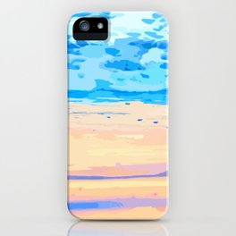 Sunset On The Shore #painting #nature iPhone Case