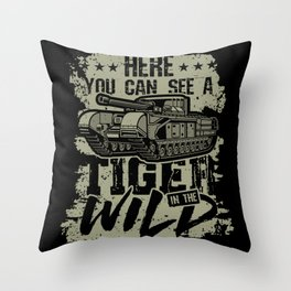 Tiger in the Wild Throw Pillow