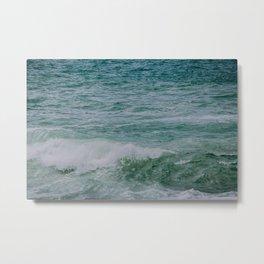 Emerald Coast Waves Metal Print