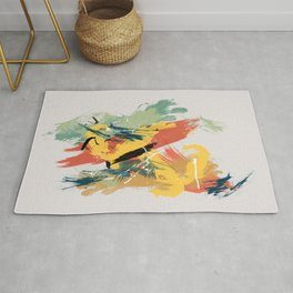 Intuitive Conversations, Abstract Mid Century Colors Rug
