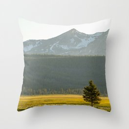 Lone Tree in the Sawtooths Throw Pillow