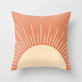 Sunrise pink Throw Pillow