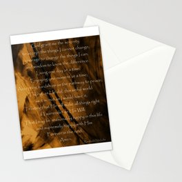 The Serenity Prayer Stationery Cards