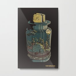 Tiny World III Metal Print