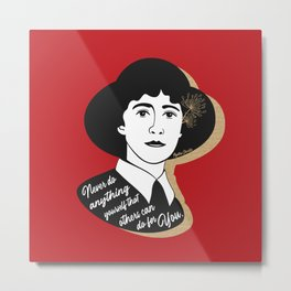 Never Do Anything Yourself - Agatha Christie - Red Metal Print