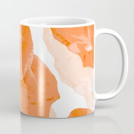 Beautiful Coral Color Flowers White Background #decor #society6 #buyart Coffee Mug