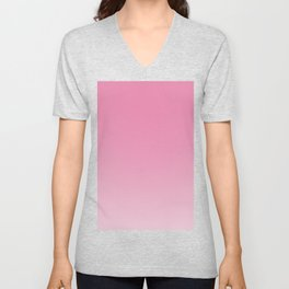pink to white ombre Unisex V-Neck