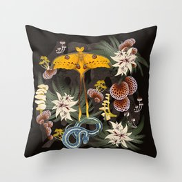 Secrets of the Dark Forest Throw Pillow