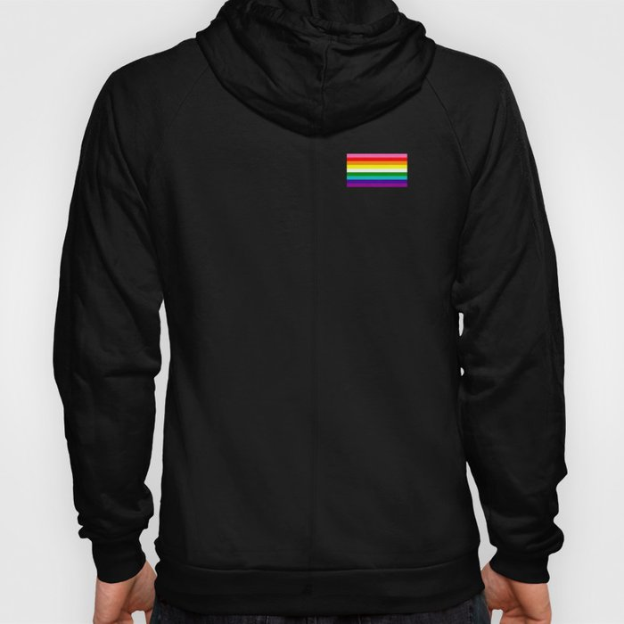 Gay Pride LGBT Rainbow Stripe Flag 2018 Awareness Hoody