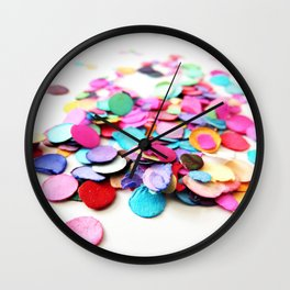 Confetti Sprinkle 6 Wall Clock
