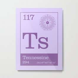 Periodic Elements - 117 Tennessine (Ts) Metal Print