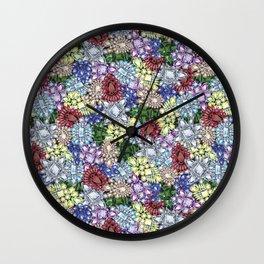Jewelbox Brooch Toss on Black Onyx Wall Clock