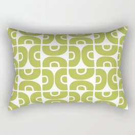 Groovy Mid Century Modern Pattern Chartreuse Rectangular Pillow