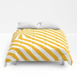 Stripes explosion - Yellow Comforters