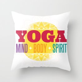 yoga quote  Throw Pillow