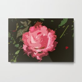 Rosegarden Rose Metal Print