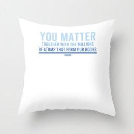 Science nerd teacher research laboratory Throw Pillow