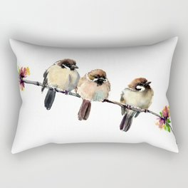 Three Birds Rectangular Pillow