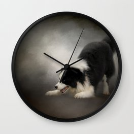 Ready to Play - Border Collie Wall Clock