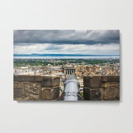 View of Edinburgh, Scotland from Edinburgh Castle Metal Print