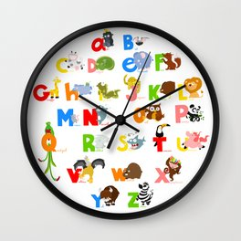 ABC (english) Wall Clock