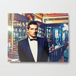 Falco at the Cafe Metal Print