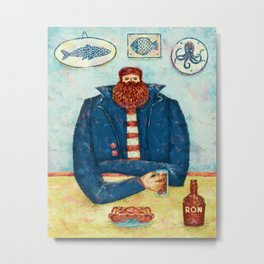 THE CAPTAIN'S BREAKFAST Metal Print