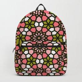 Persian Mosaic – Pink & Sage Palette Backpack