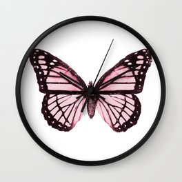 Monarch Butterfly Pink Dream Wall Clock