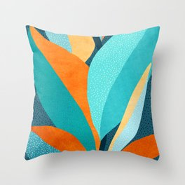 Abstract Tropical Foliage Throw Pillow