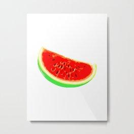 Watermelon, Summer Poster, Summer T-Shirt, white version Metal Print