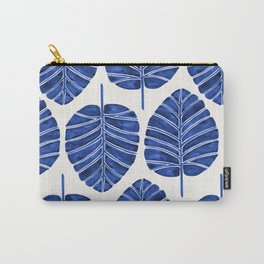 Elephant Ear Alocasia – Navy Palette Carry-All Pouch